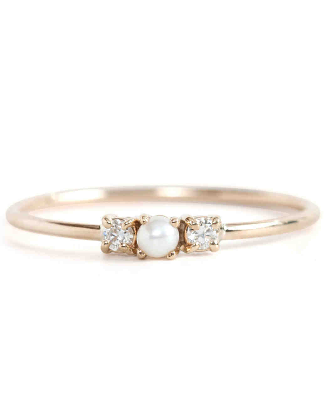 Jennie Kwon Pearl Engagement Ring