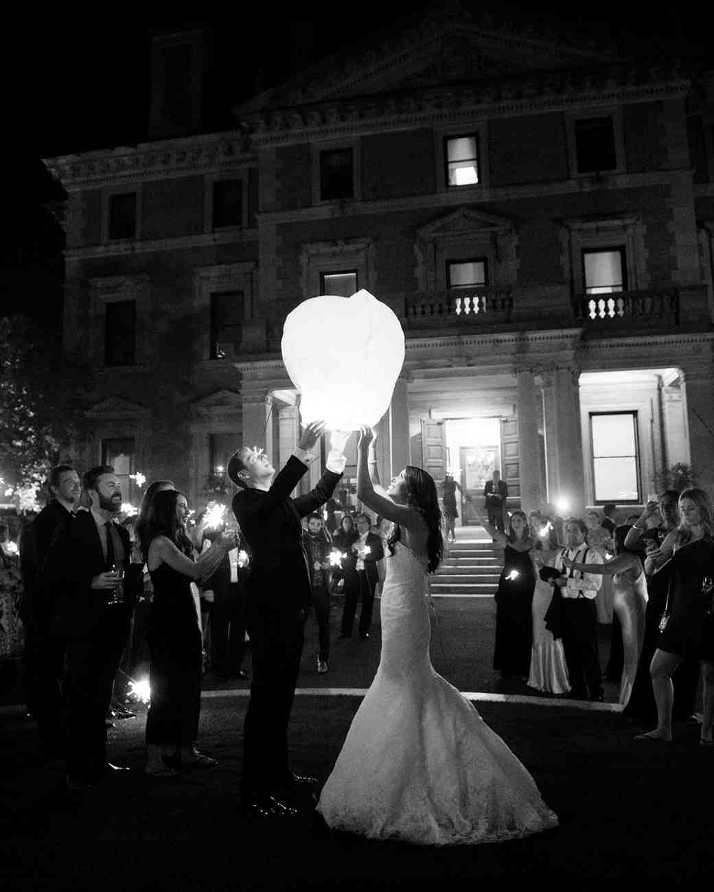 jessica brian wedding wish lantern