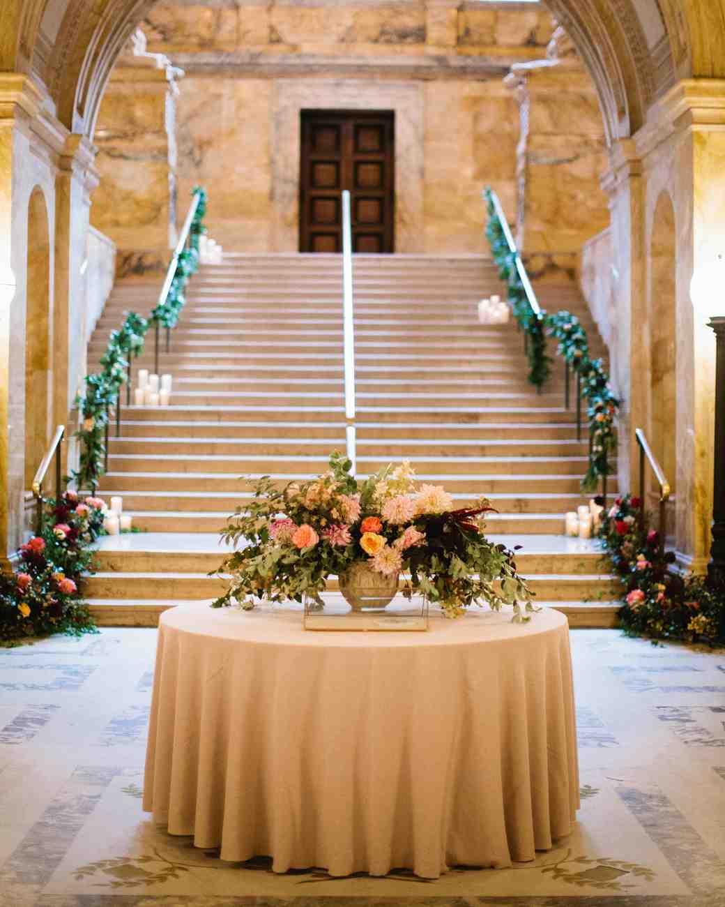 A Classic Boston Public Library Wedding Martha Stewart Weddings