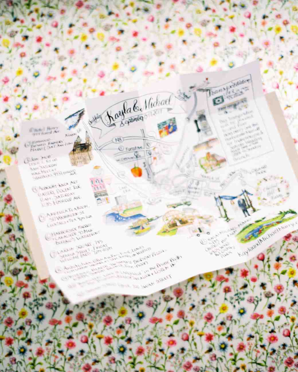 kayla michael wedding map