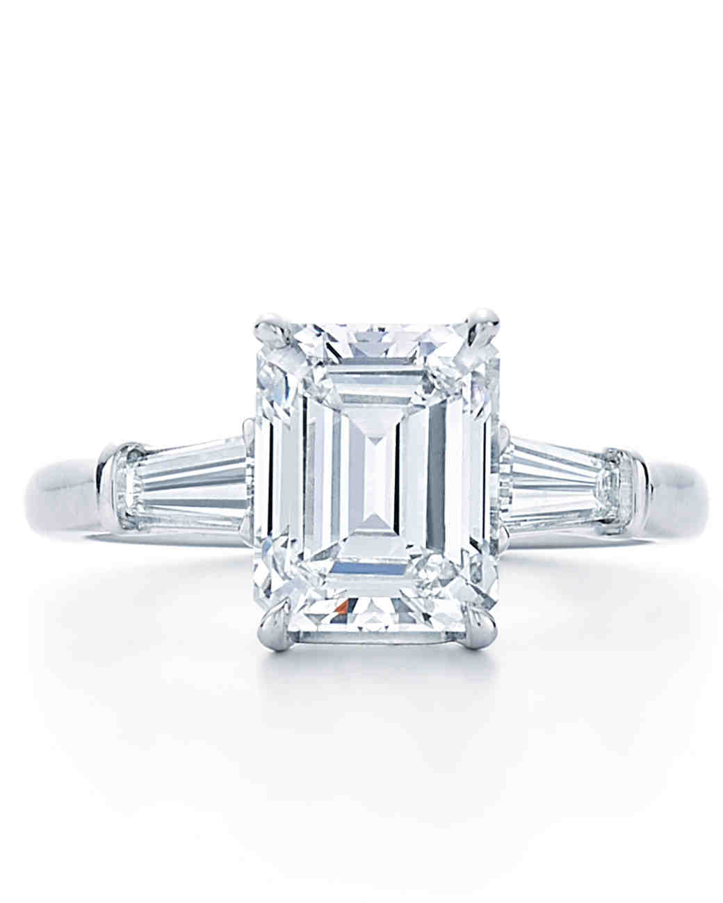 emerald cut engagement rings martha stewart weddings