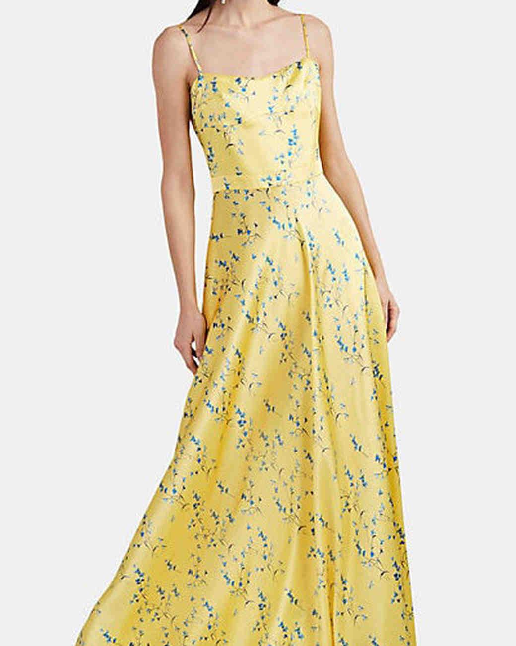 Maison di Prima Floral Silk Satin Maxi Dress