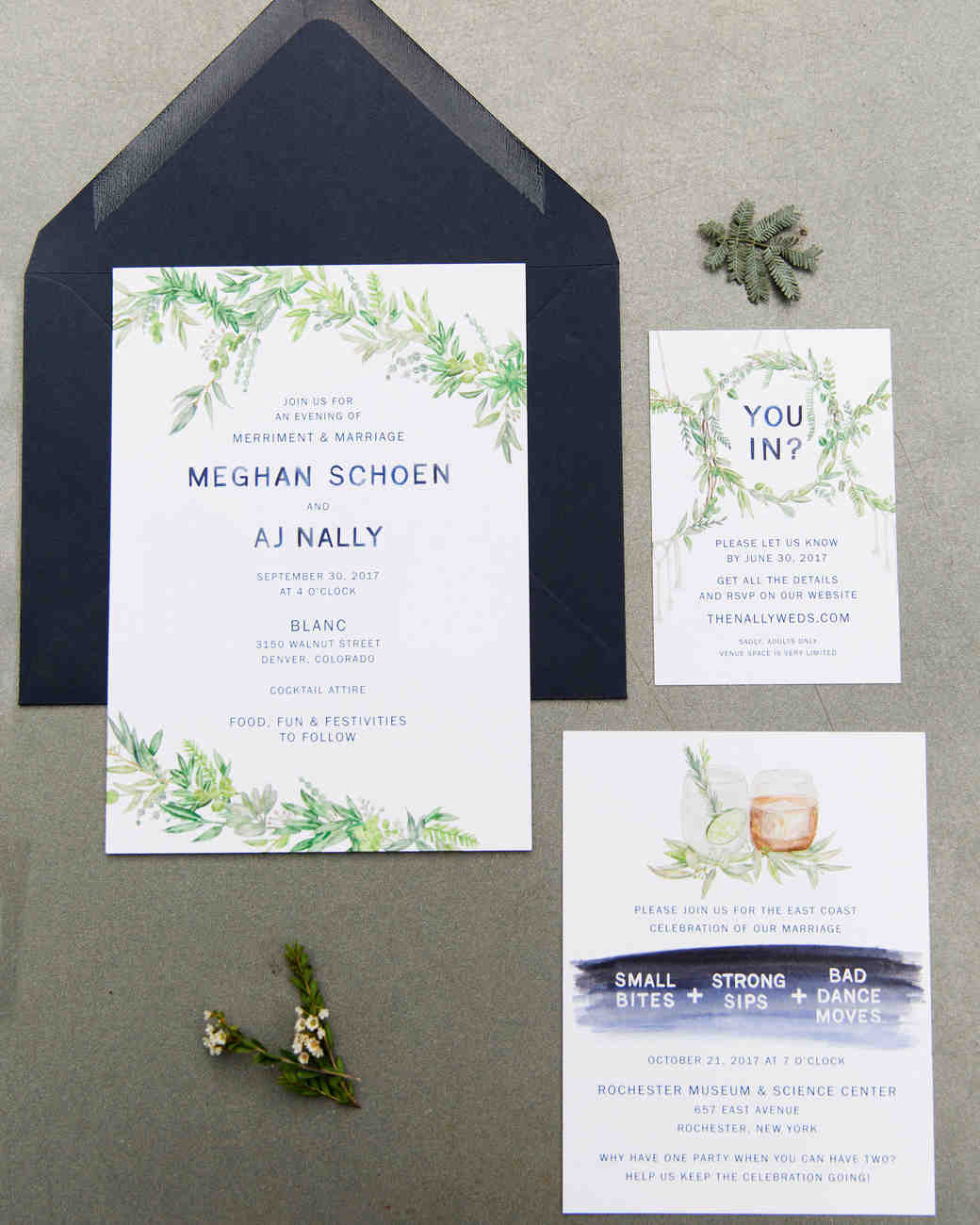 wedding invite stationery