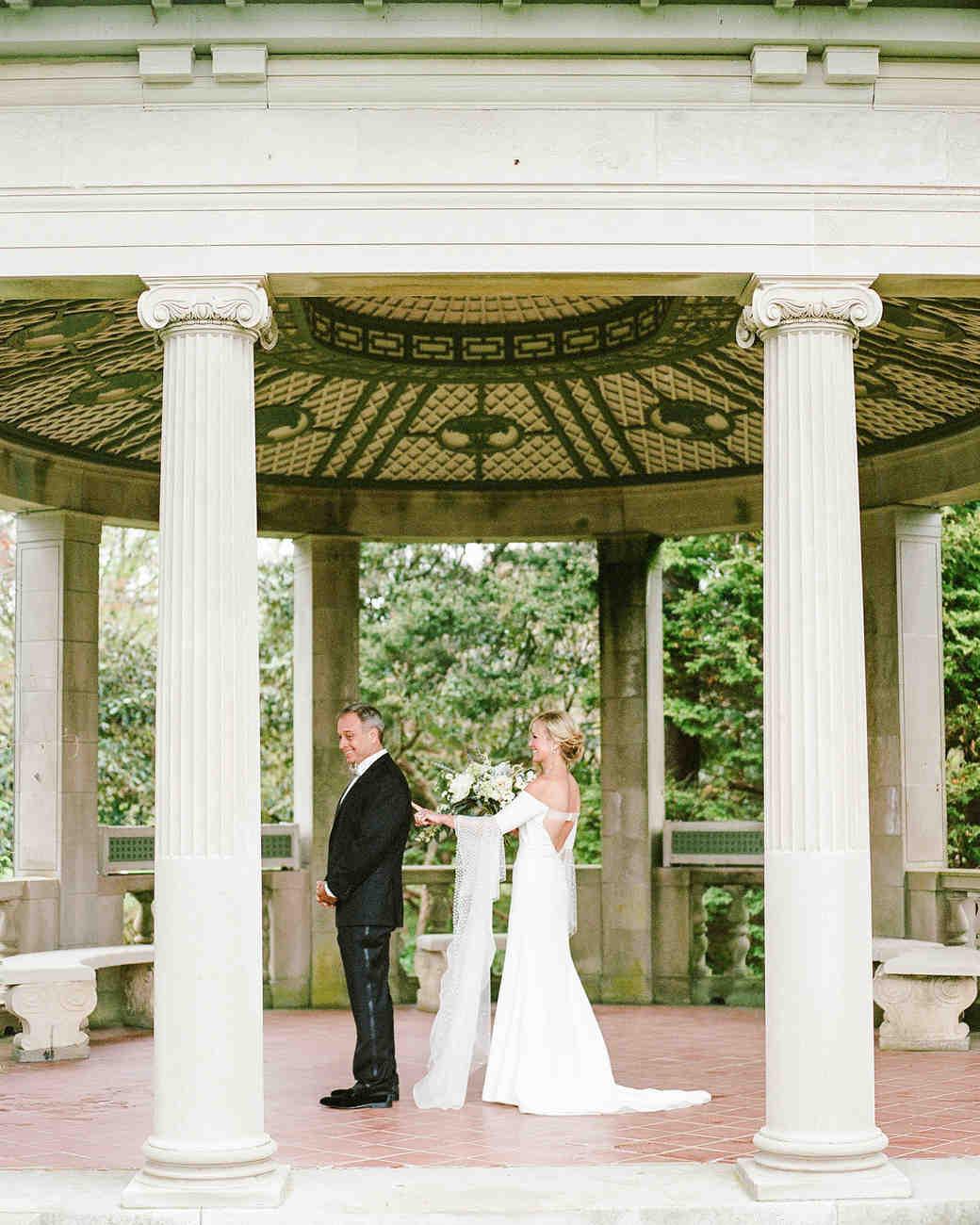 michelle robert wedding first look