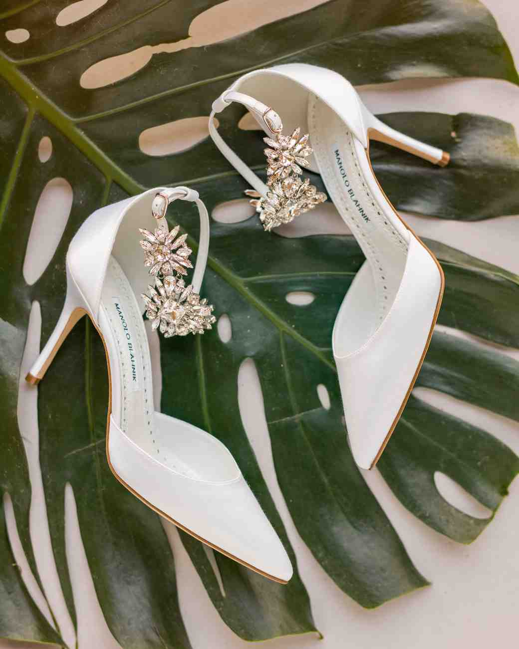 hawaiian wedding bride shoes sparkly ivory