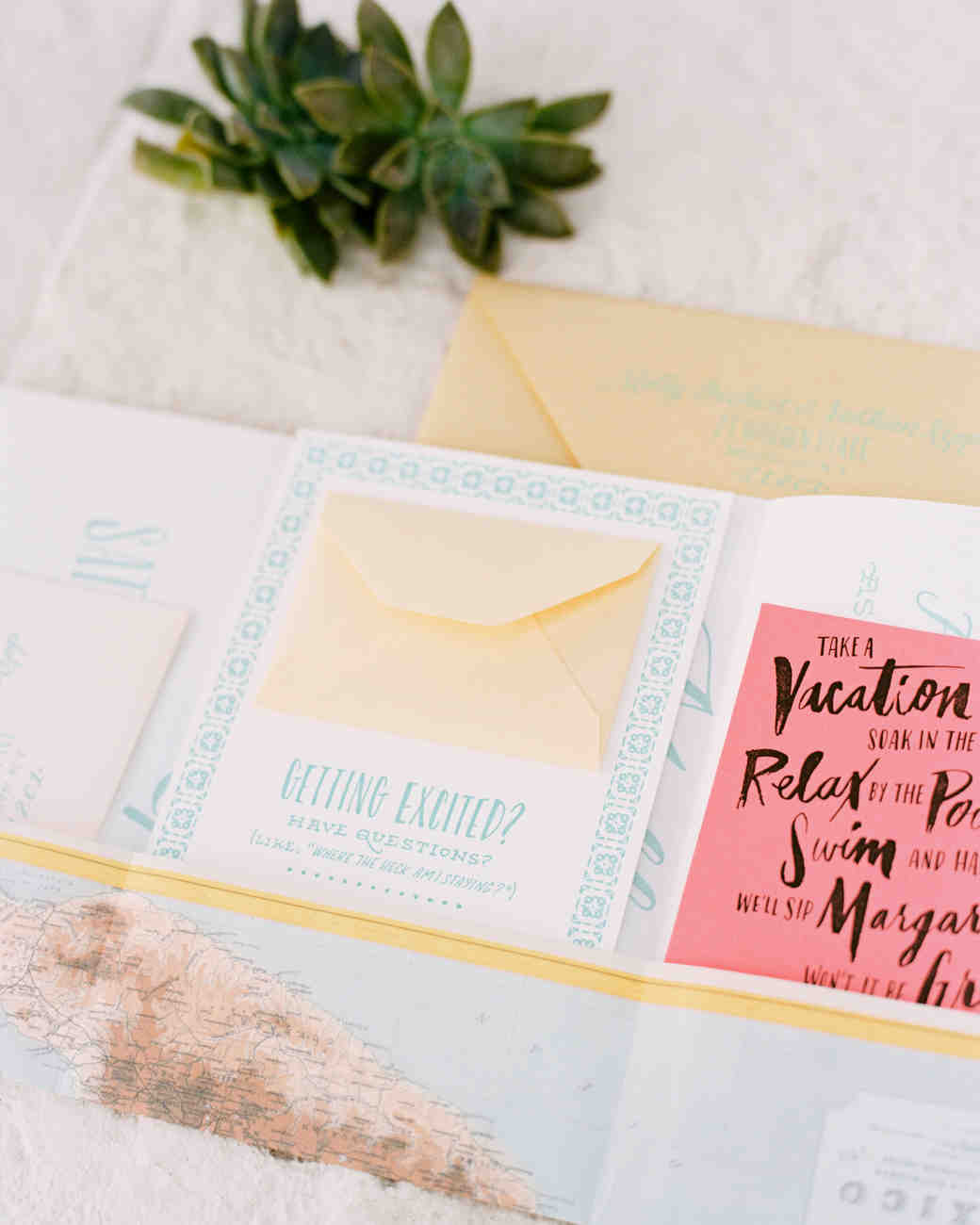 Beach Wedding Invitations That Set The Mood For A Seaside Celebration Martha Weddings