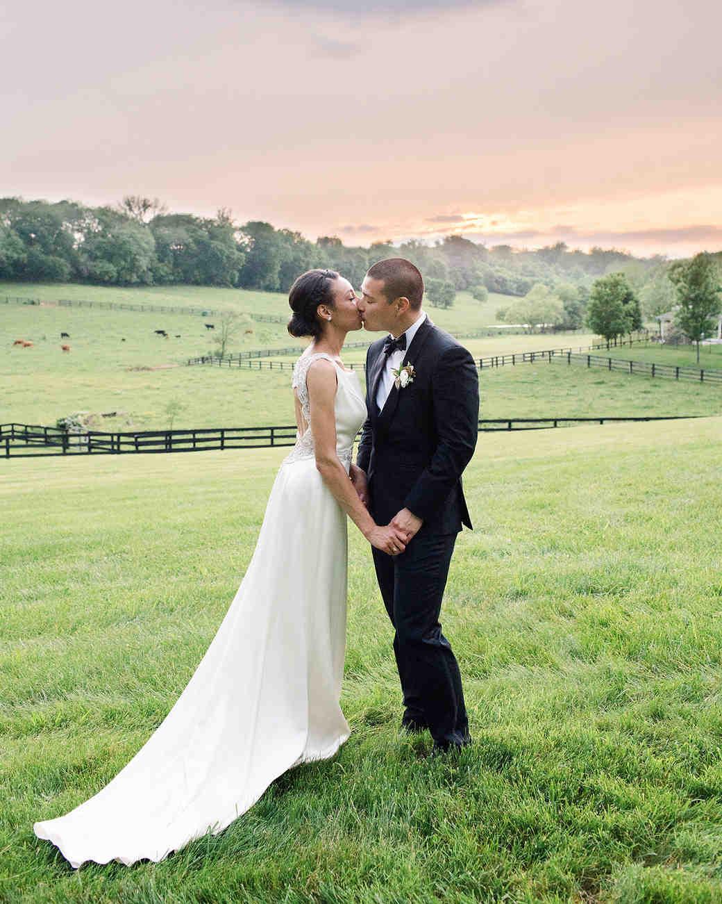pillar paul wedding couple rolling hills with sunset
