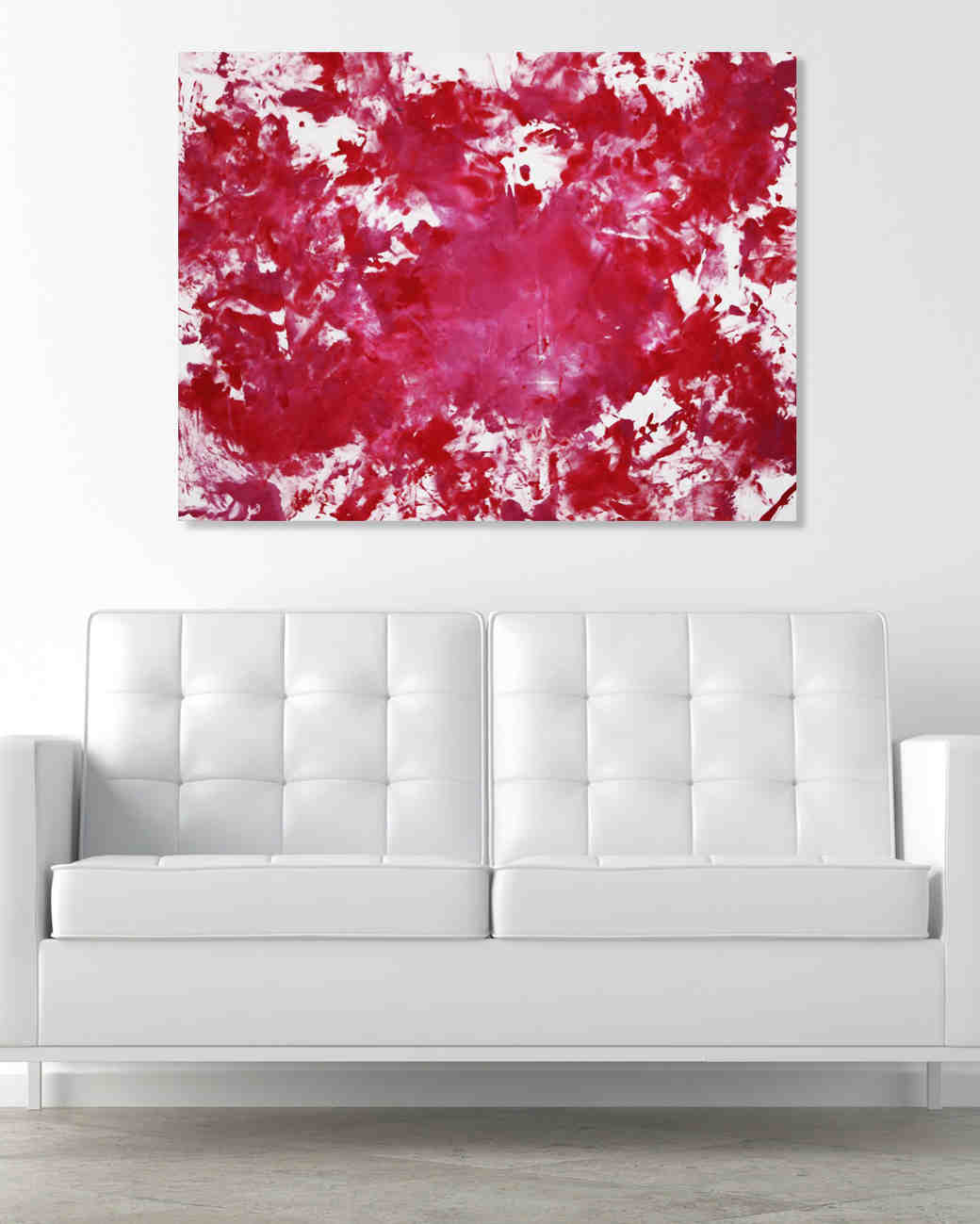 art intimate painting kit over couch