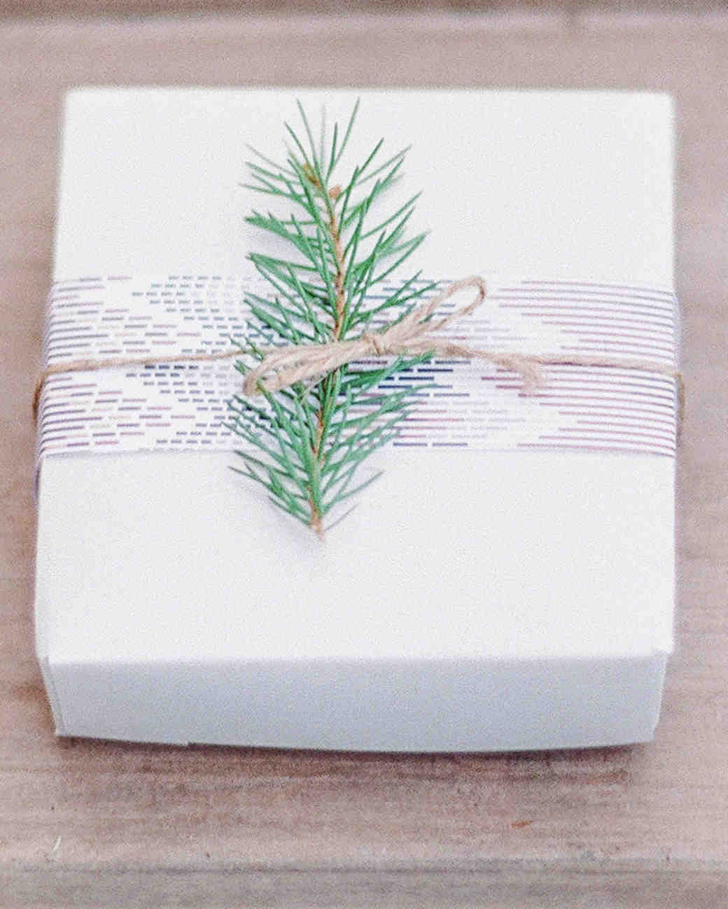 Favor Box with Pine Twig