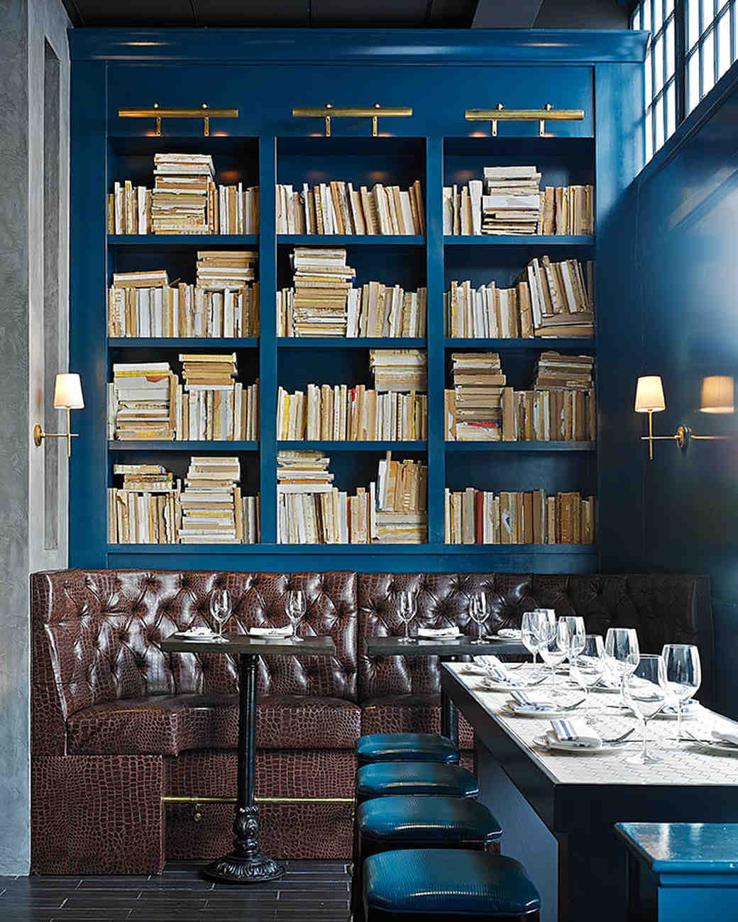 san francisco the dorian leather booths in library restaurant
