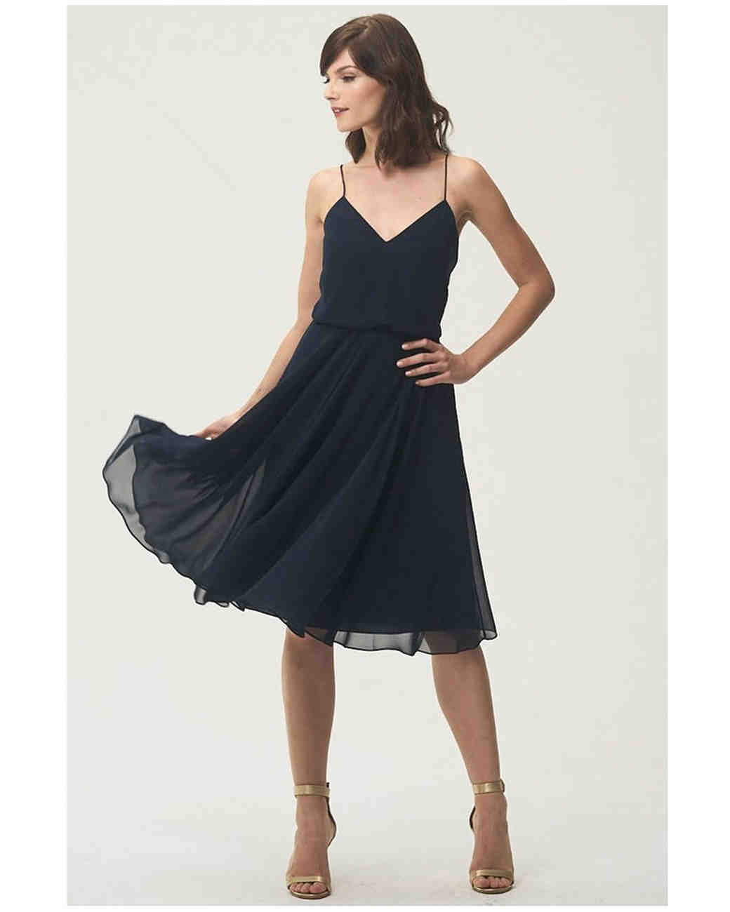 short bridesmaid dresses jenny yoo chiffon
