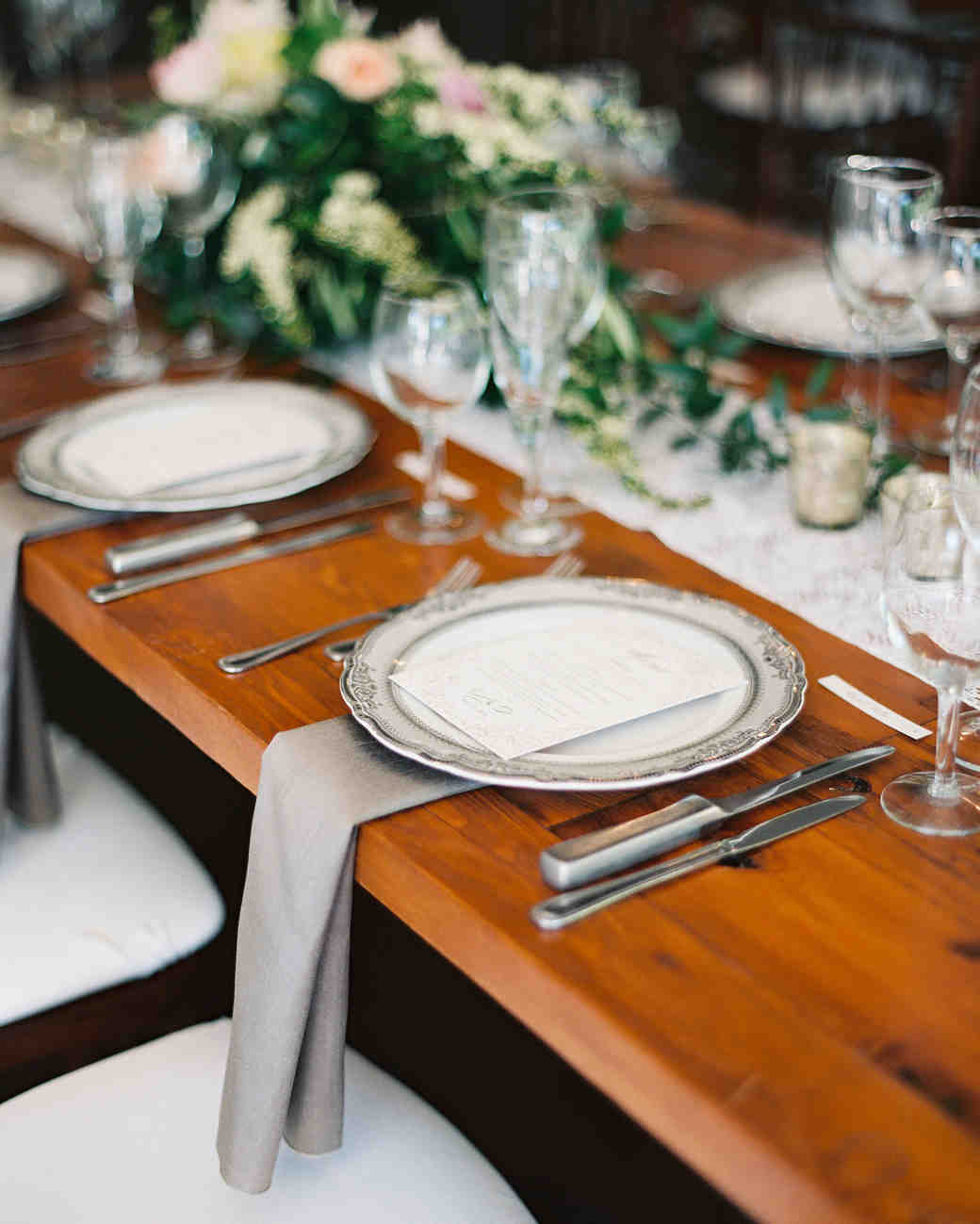 Silver Wedding Tablescape