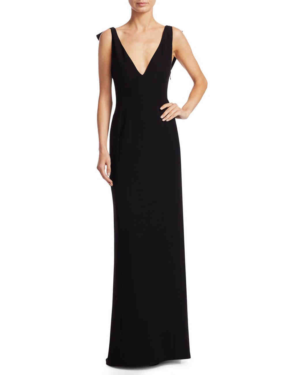 Emporio Armani Butterfly-Back Gown