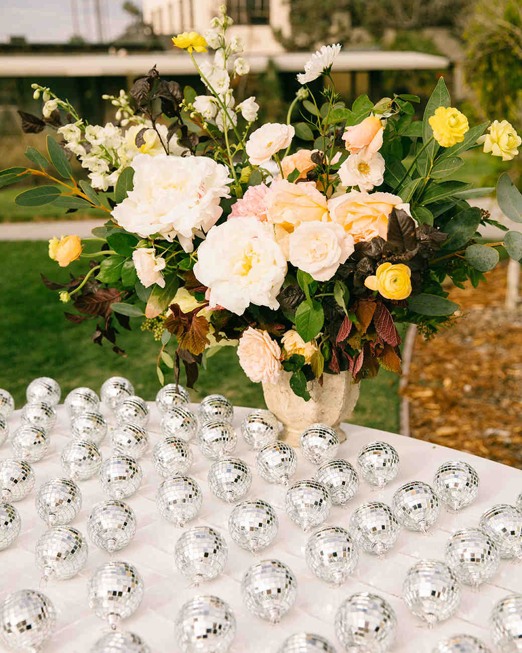disco ball escort cards