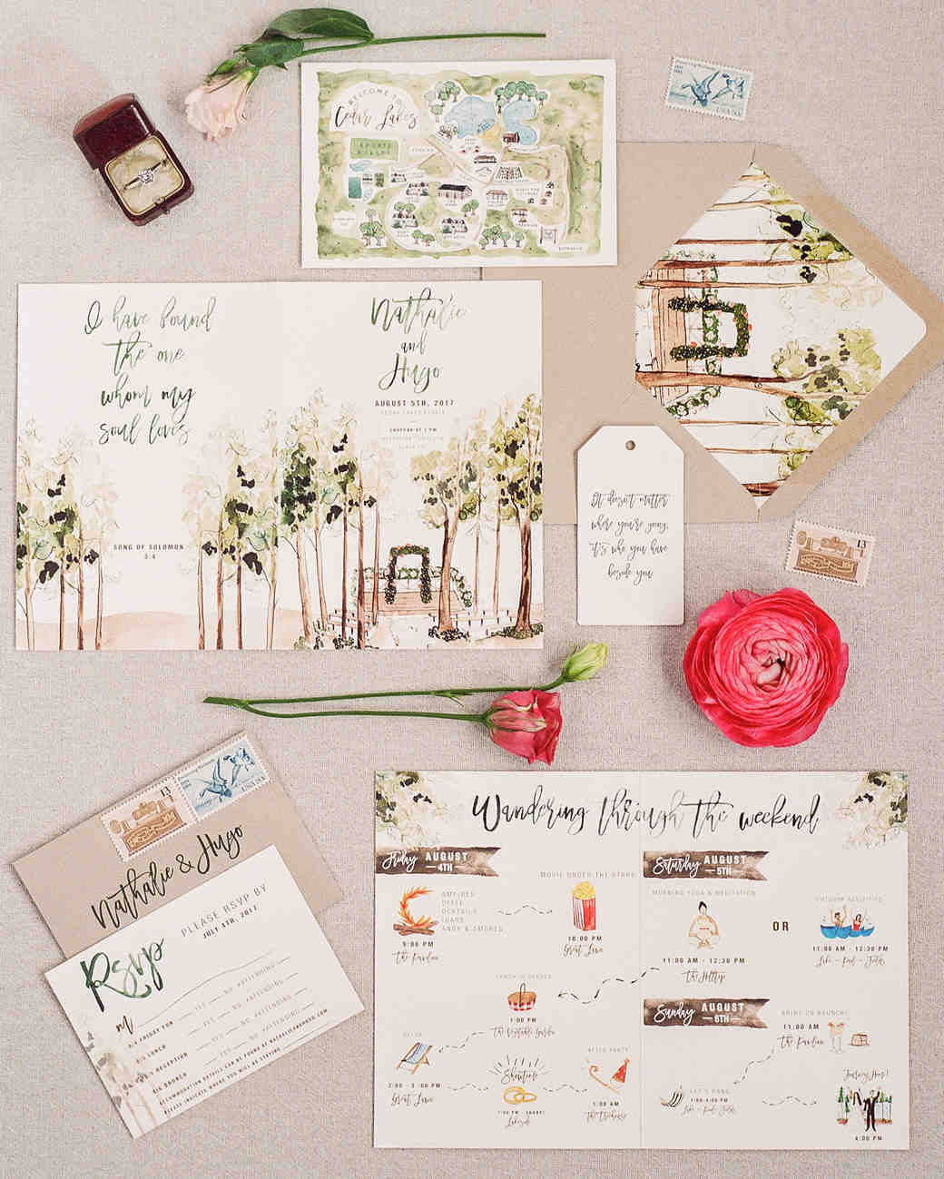unique wedding invitations 29 ideas for unique wedding invitations martha stewart 8188