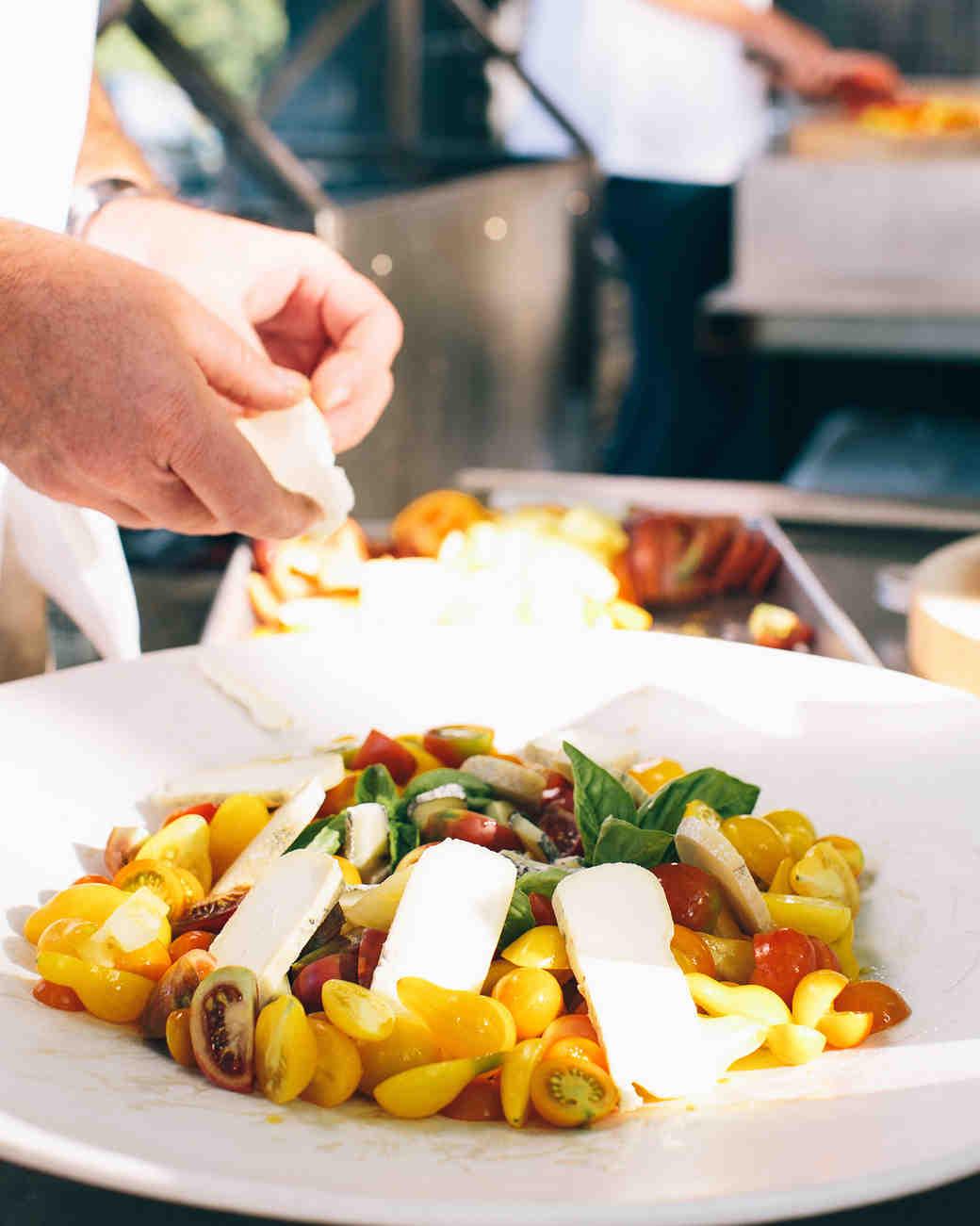 fresh mozzarella pasta dish