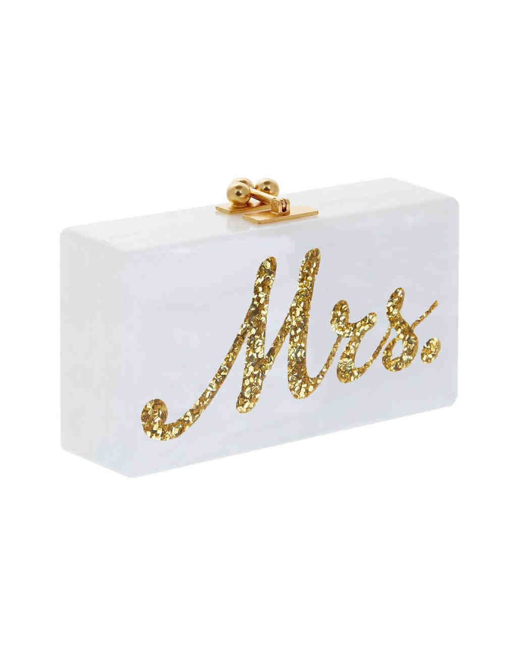 "Edie Parker ""Mrs."" Acrylic Jean Clutch, Bridal Clutches"