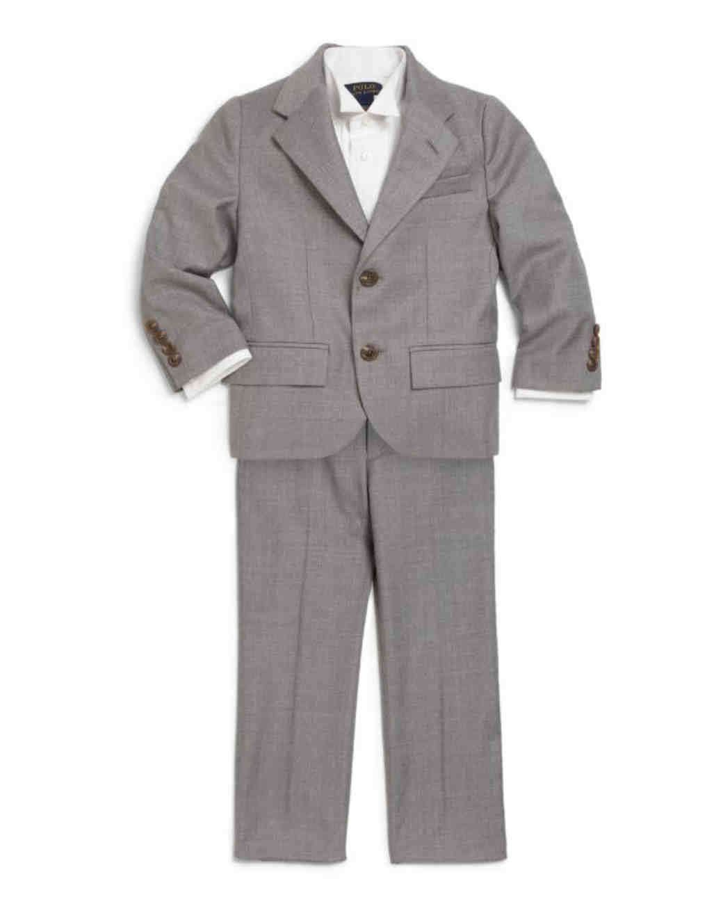 ralph lauren grey ring bearer suit