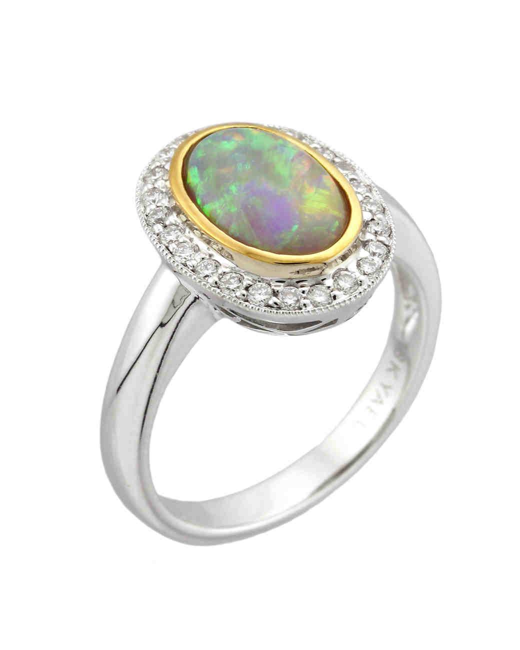Yael Designs Opal Engagement Ring