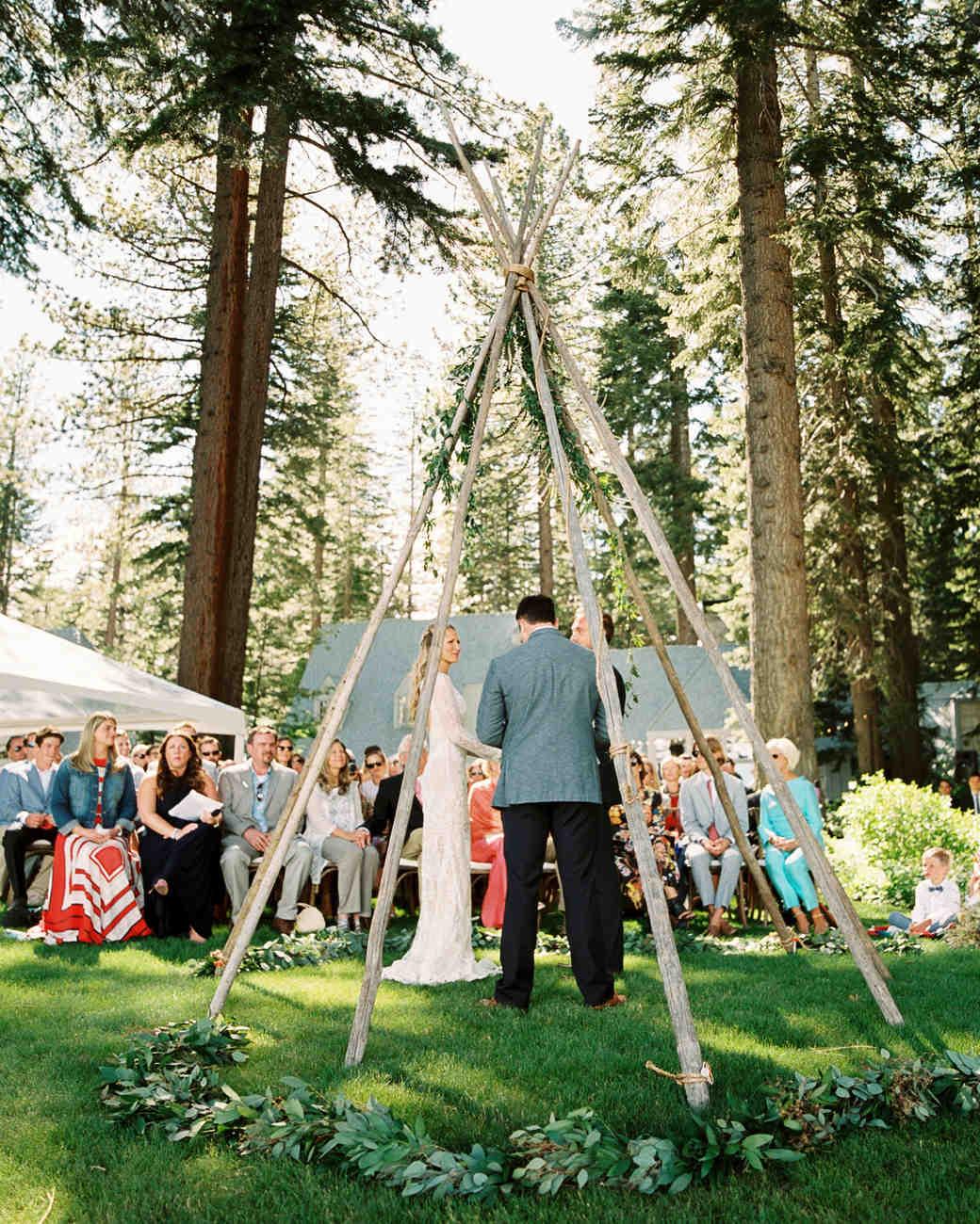 wedding ceremony with teepee