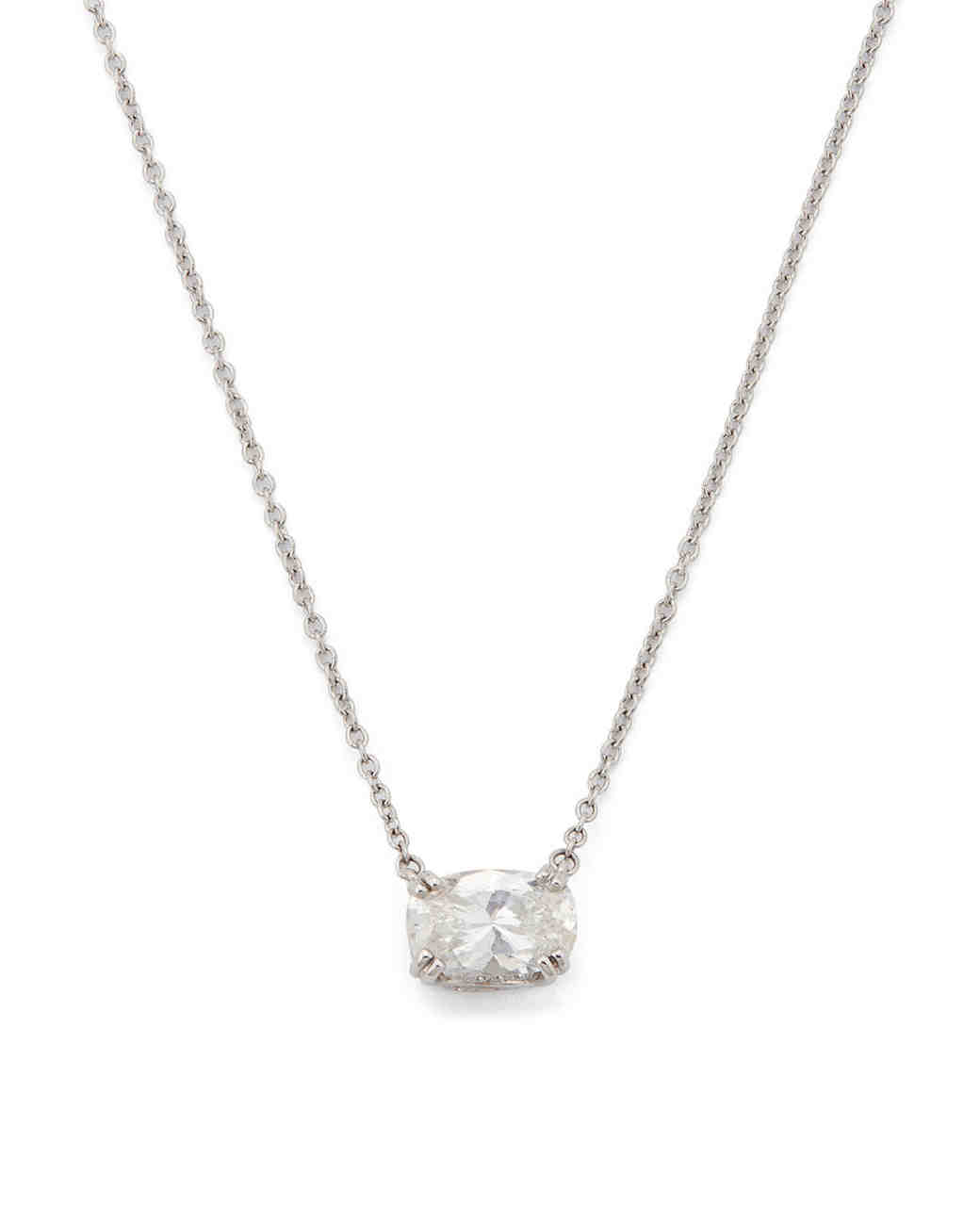 Key Charm with White Diamonds Necklace