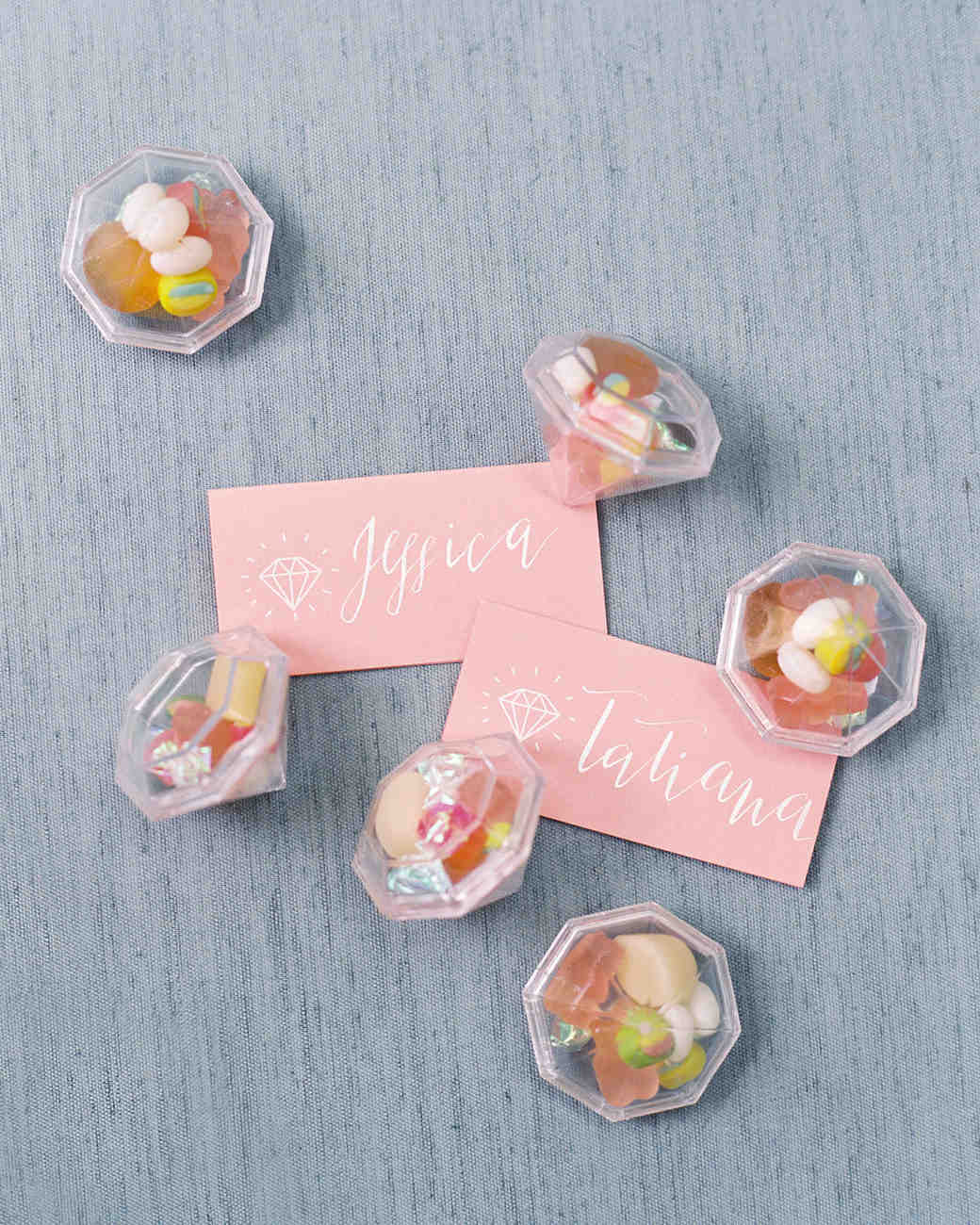 be my bridesmaid candy in gem containers