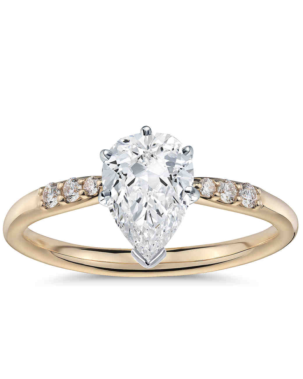 pin set chelsea in shaped engagement pear ring diamond carat