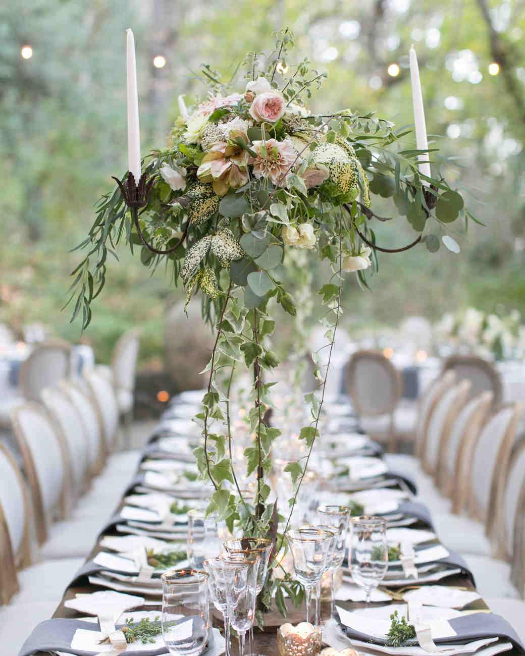 50 wedding centerpiece ideas we love martha stewart weddings sprawling centerpieces junglespirit Images