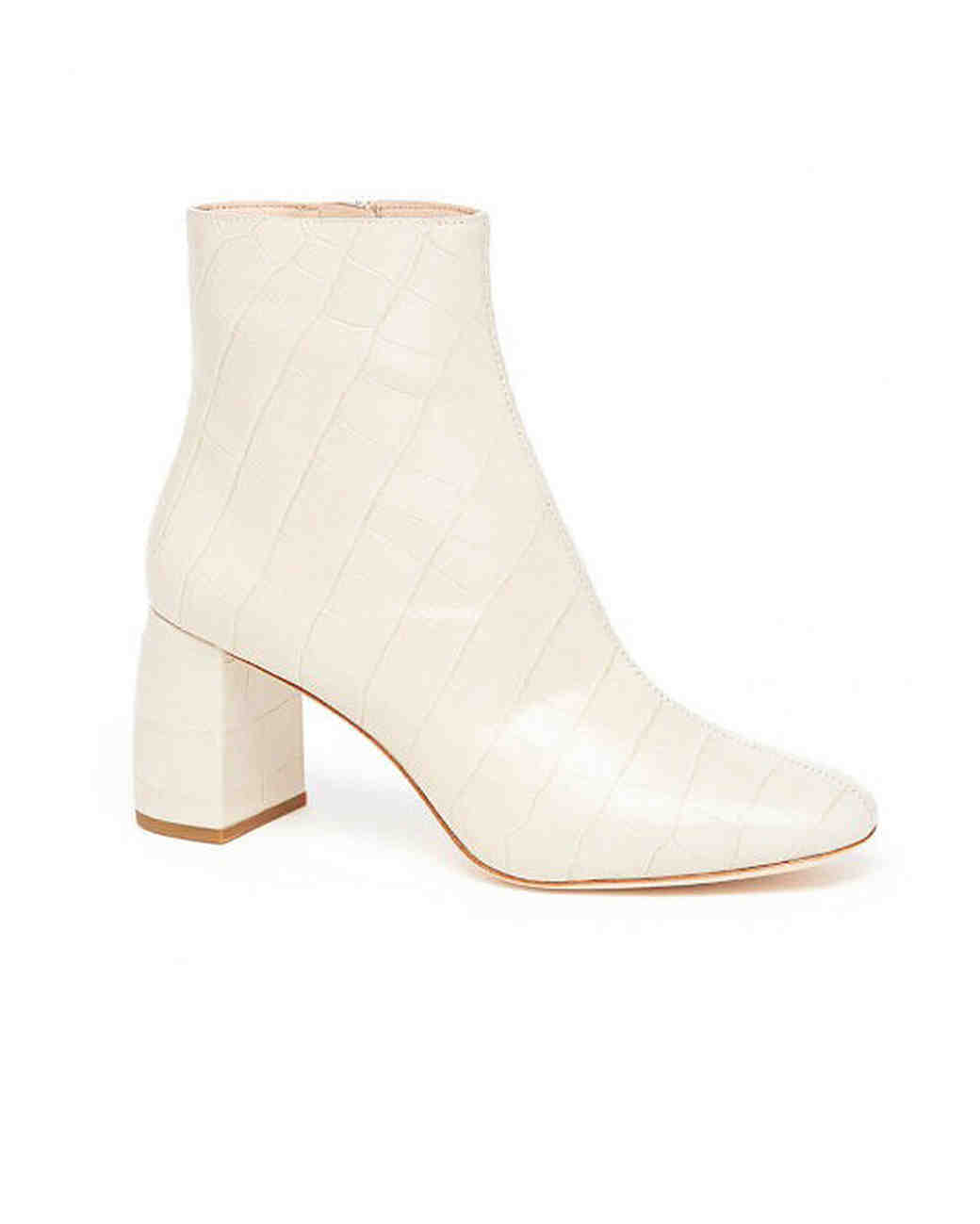 off white bridal booties loeffler randall cooper chunky heel