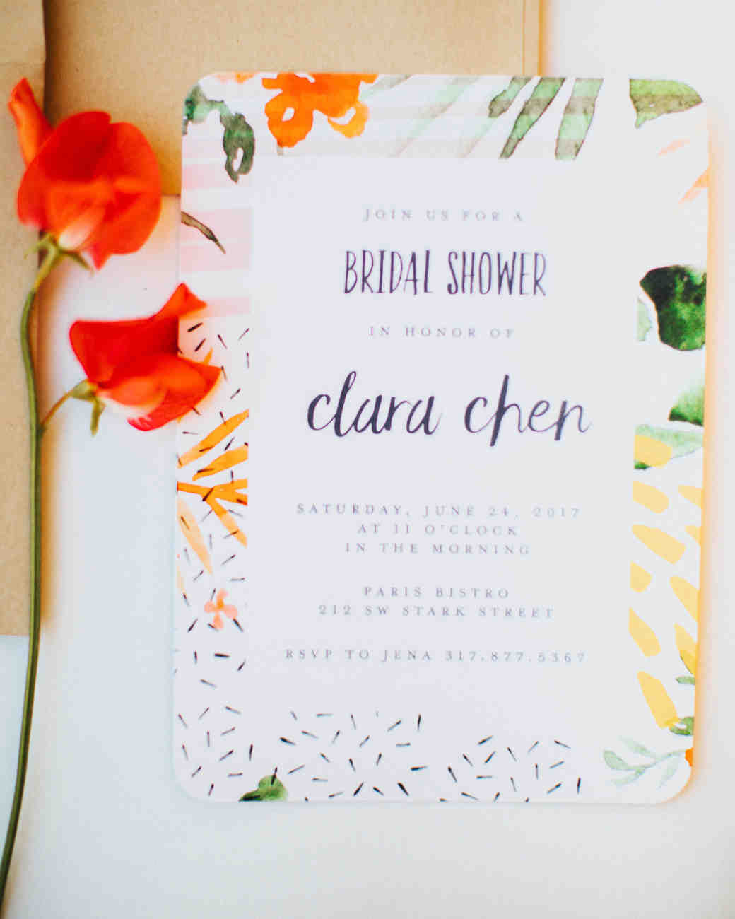 Bridal Shower Invitations We Absolutely Love | Martha Stewart Weddings