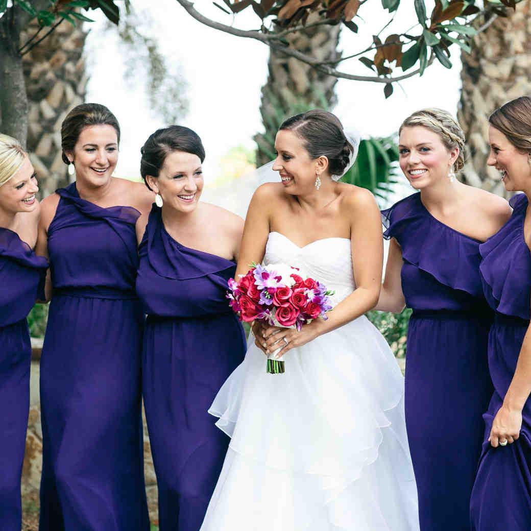 Wedding colors martha stewart weddings amethyst bridesmaid dresses ombrellifo Image collections