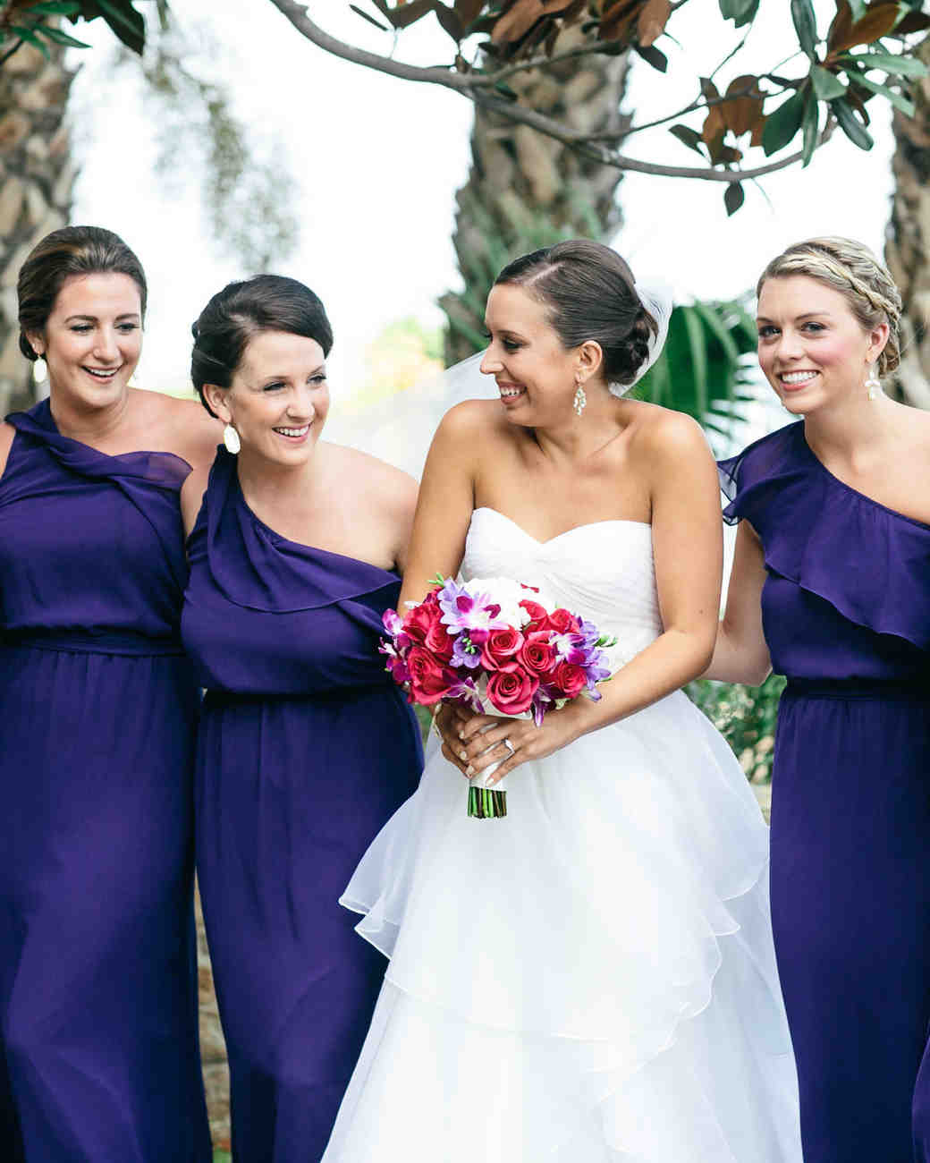 amethyst bridesmaid dresses