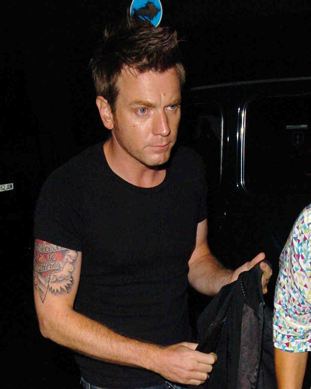 Ewan McGregor's Tattoo for Eve Mavrakis