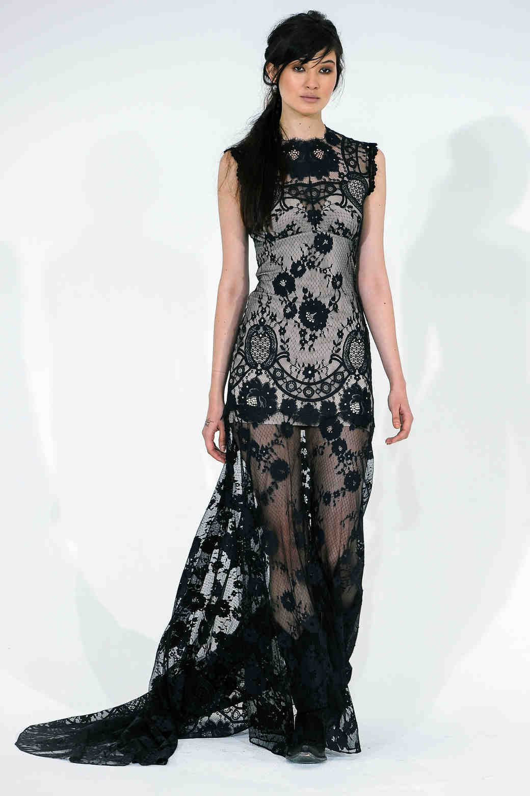 Claire Pettibone lace black wedding dress