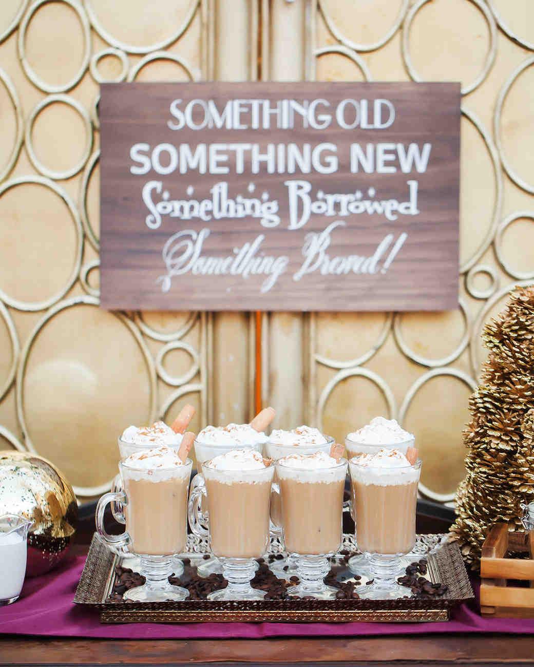 coffee wedding ideas Something Old, Something New, Something Borrowed, Something Brewed sign