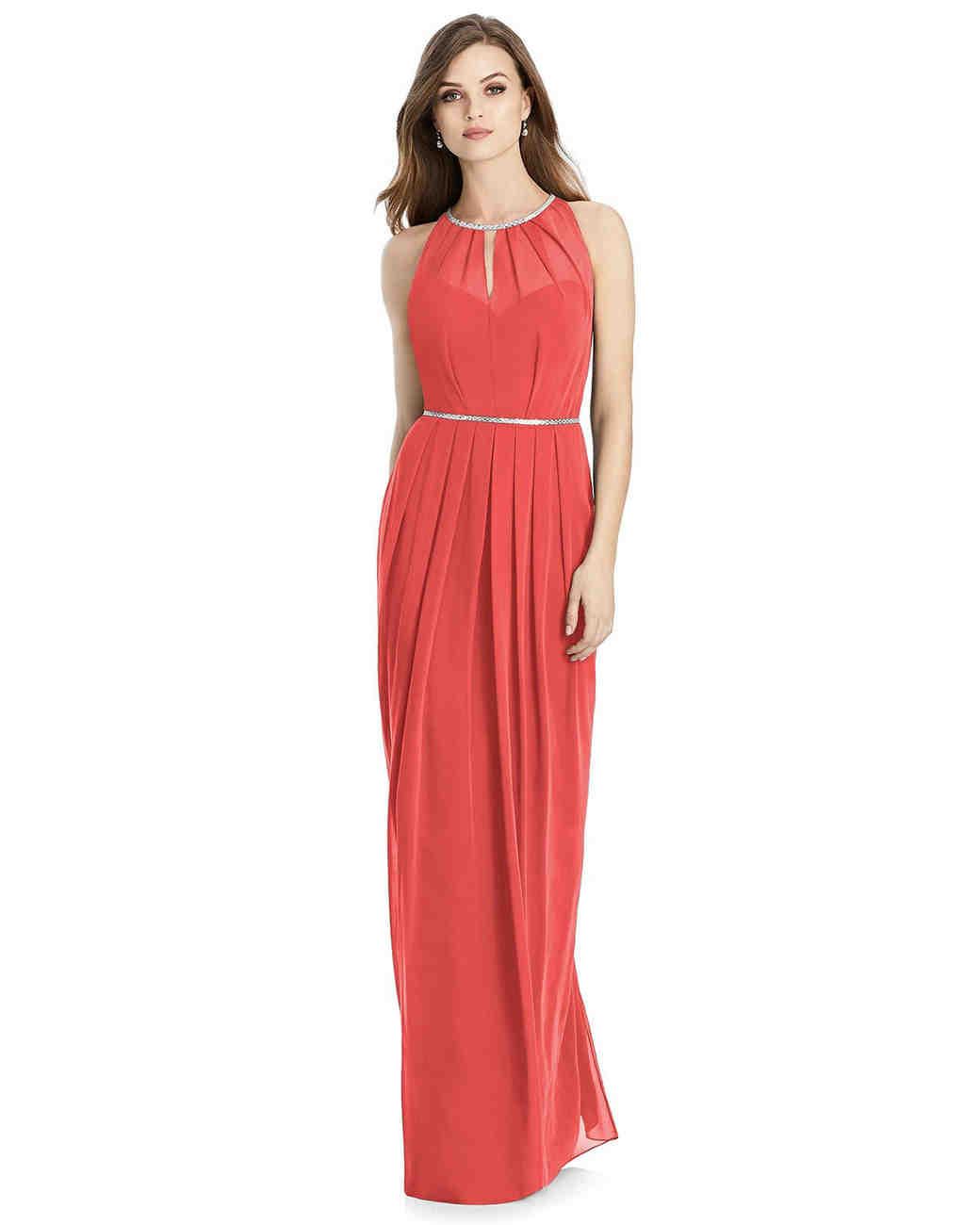 c325a5efe4f5 White By Vera Wang Long Ruched Bridesmaid Dress With Ruffles ...