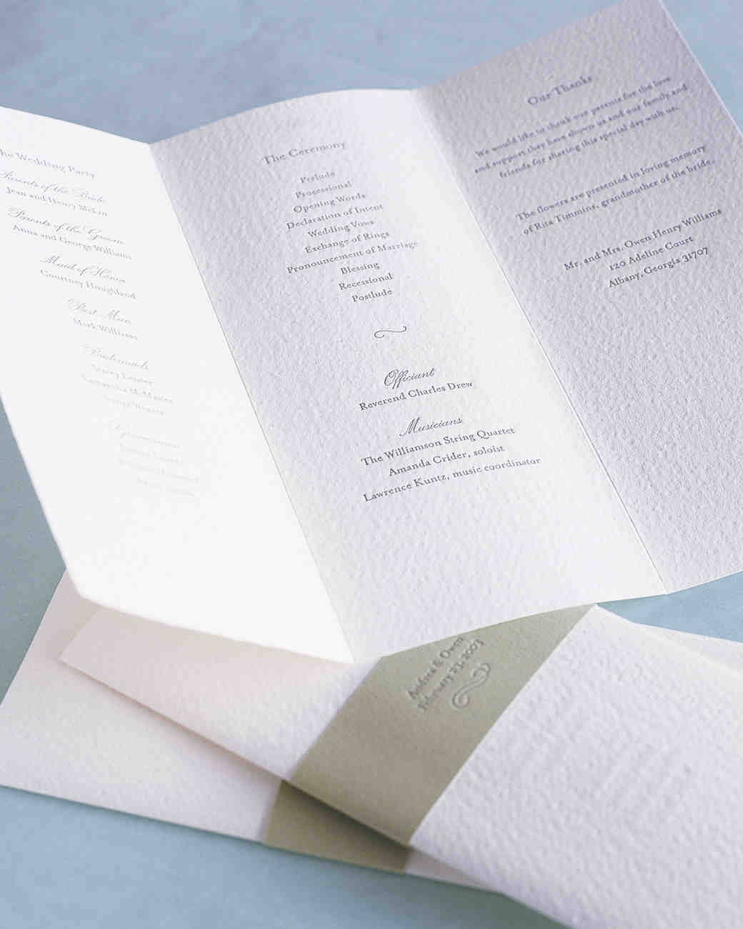 25 Ways to Upgrade Your DIY Wedding Programs | Martha Stewart Weddings