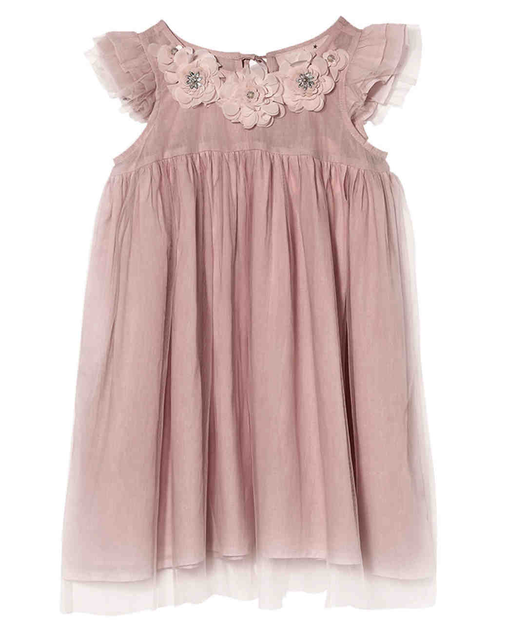 Fuchsia Flower Girls Floral Jacquard Dress Pageant Christmas Wedding Party 761