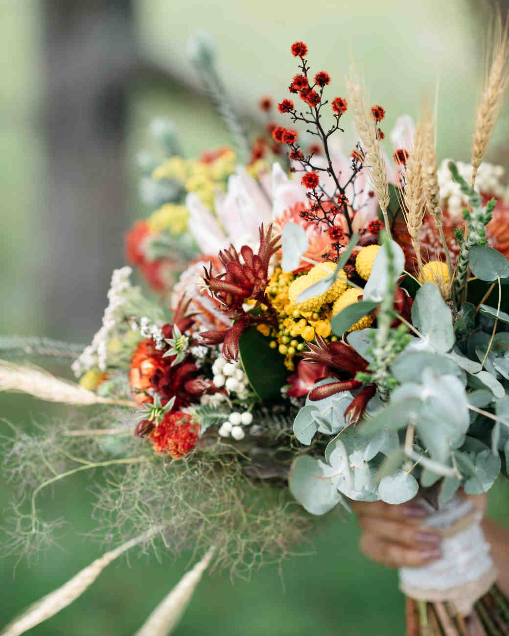 53 gorgeous fall wedding bouquets martha stewart weddings farm wedding bouquet junglespirit Image collections