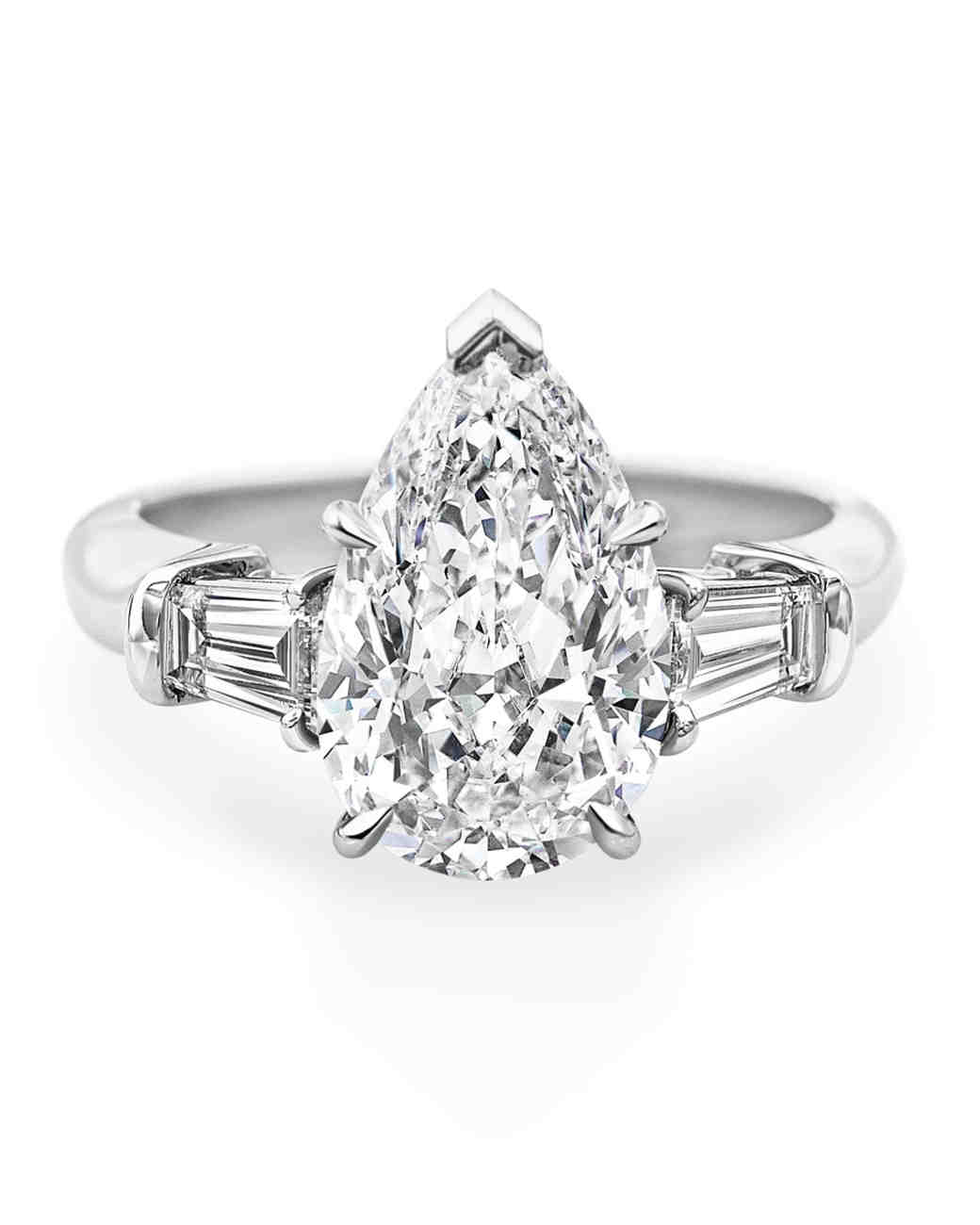 stone platinum pear and ring round diamond engagement three rings g mainwh vs gia