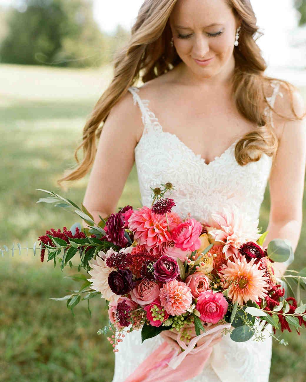 jen geoff wedding bridal bouquet