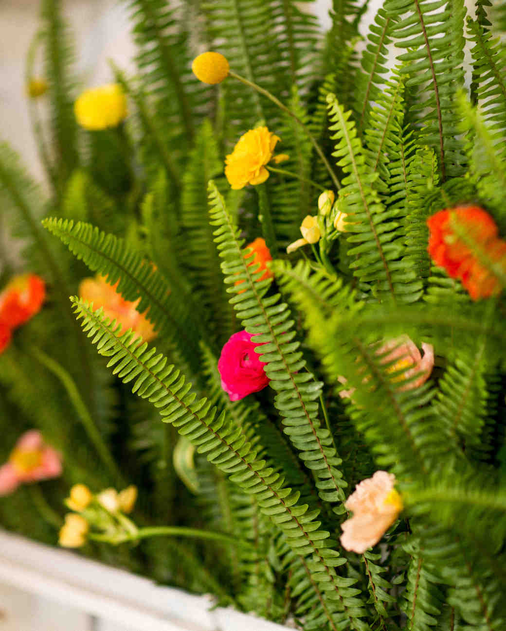 kara bridal shower flowers close up