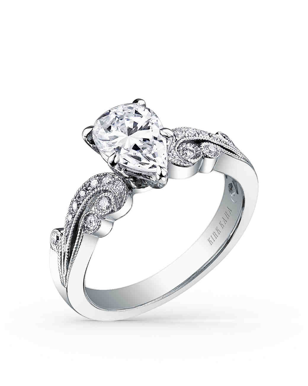 Kirk Kara Pear-Cut Engagement Ring