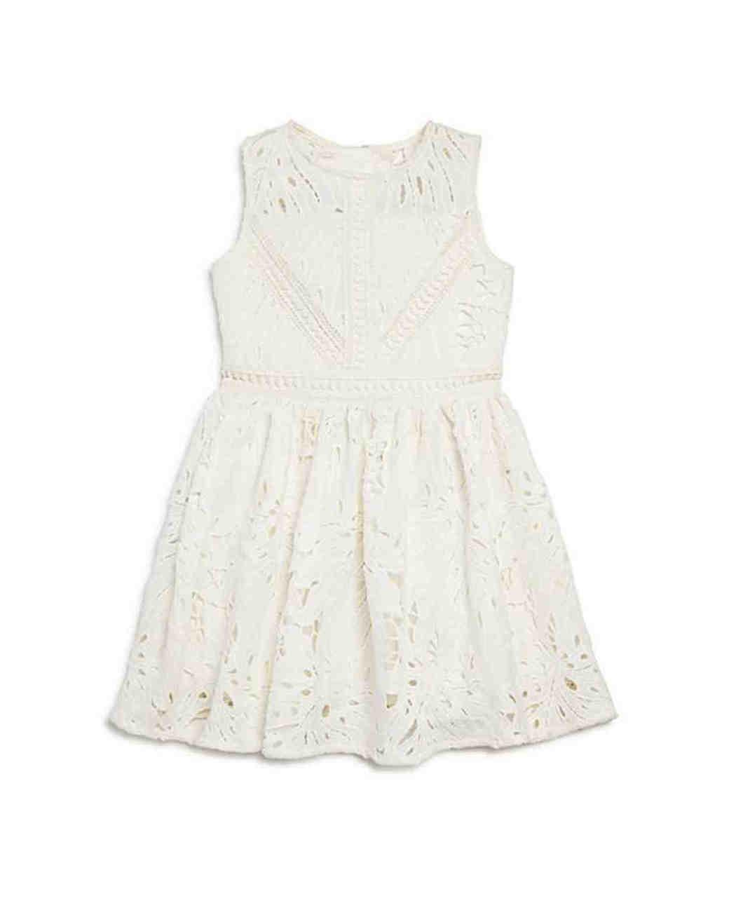 Bardot Junior Panama Leaf Lace Dress