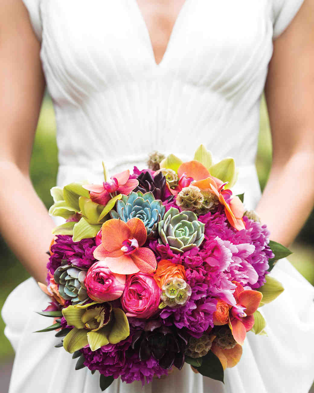 22 modern wedding bouquets martha stewart weddings - Flowers good luck bridal bouquet ...