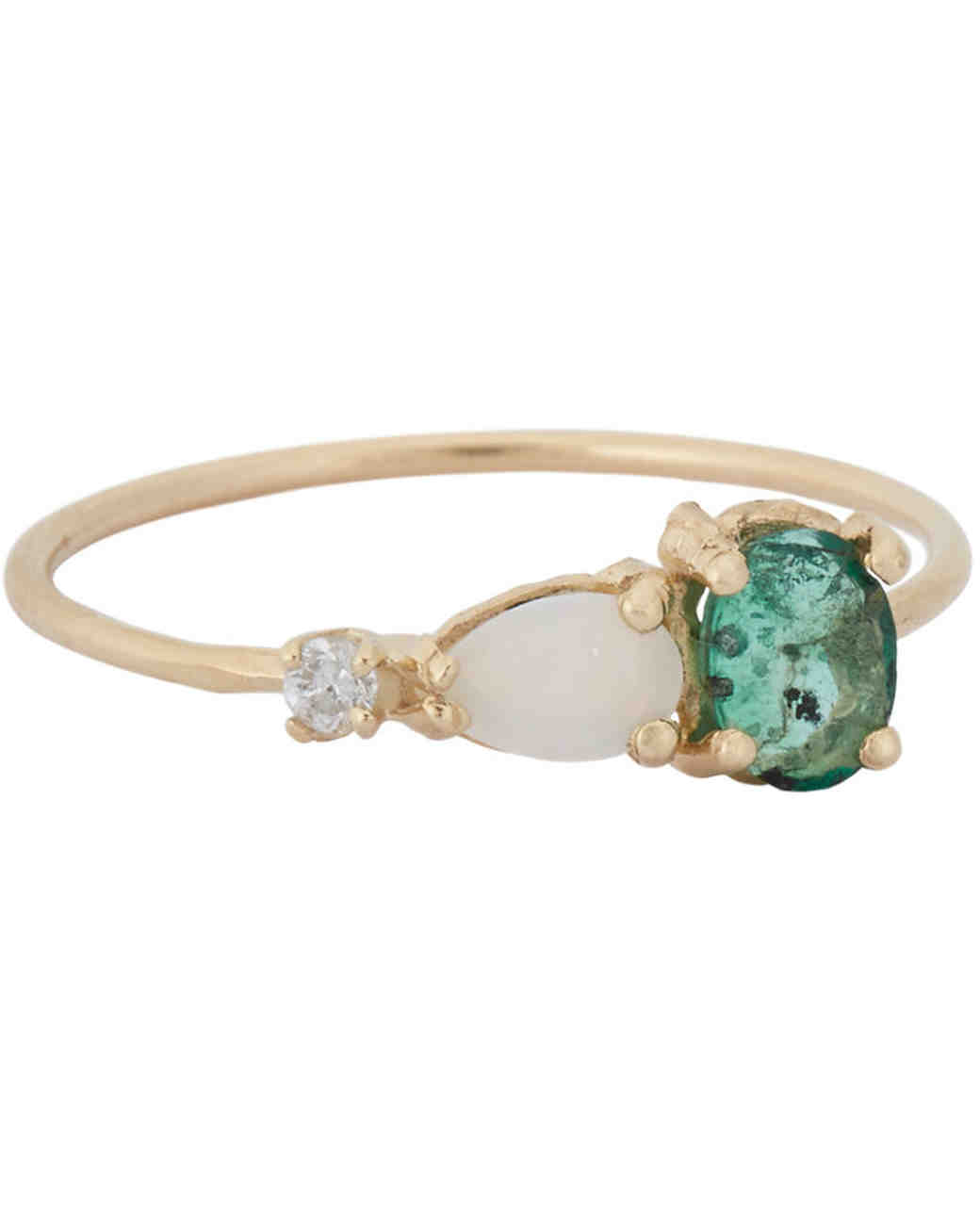 Opal Engagement Rings That Are OhSo Dreamy Martha Stewart Weddings