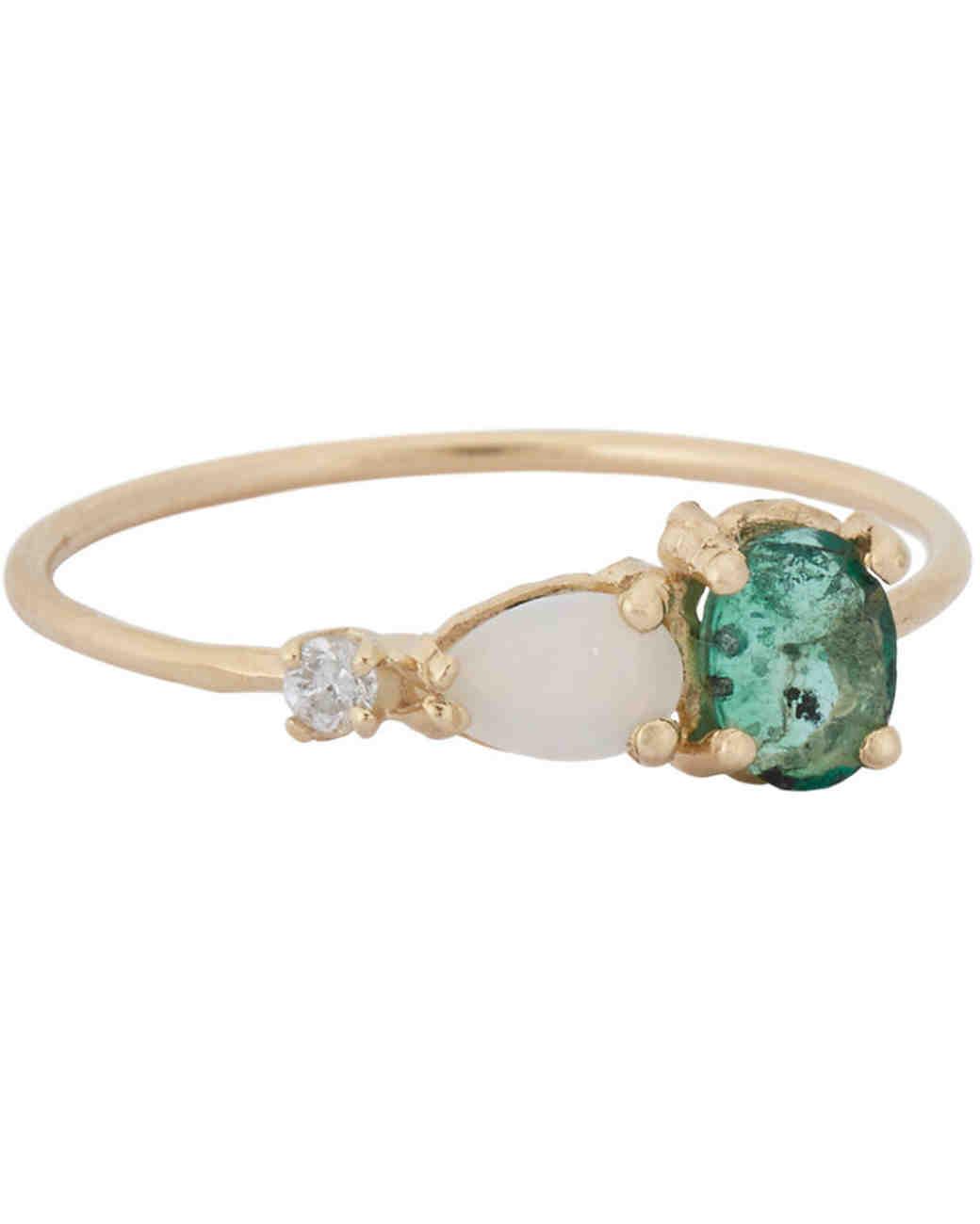 Loren Stewart Opal Engagement Ring