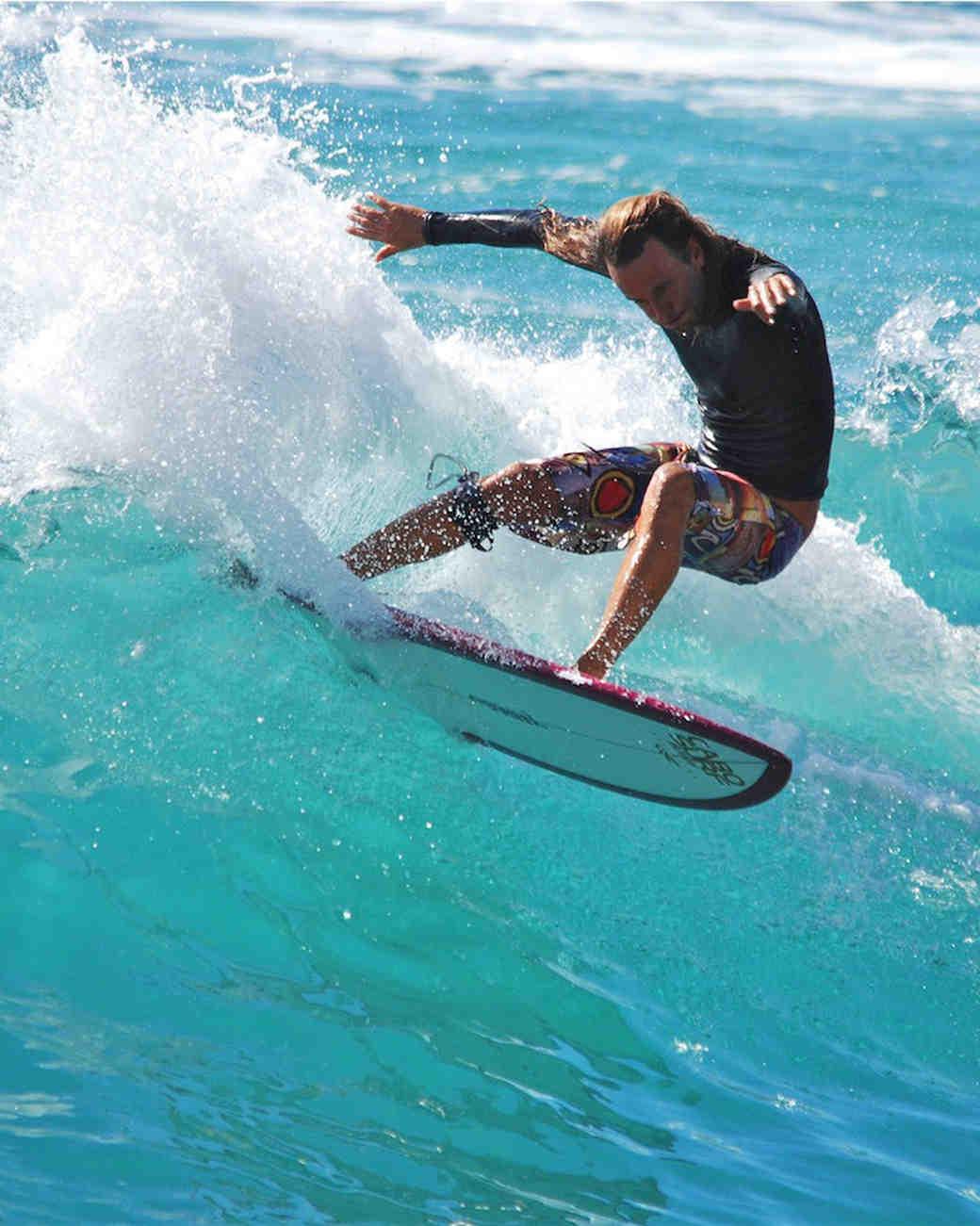 surfer on wave