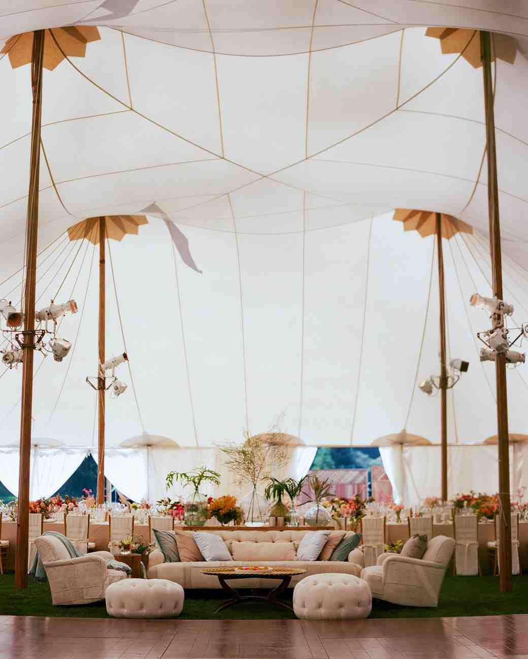 wedding tent interior