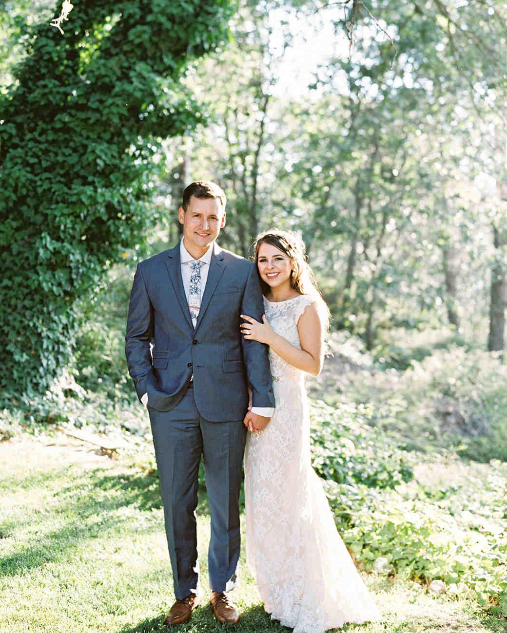 megan scott wedding couple in forest setting